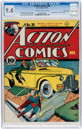 Golden Age (1938-1955):Superhero, Action Comics #30 Central Valley Pedigree (DC, 1940) CGC NM 9.4 Off-white to white pages....