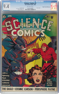 Science Comics #3 Mile High Pedigree (Fox, 1940) CGC NM 9.4 Off-white pages