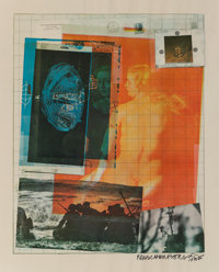 Robert Rauschenberg (1925-2008) Paris Review, 1965 Offset lithograph in colors on wove paper 25 x 21 inches (63.5 x 5