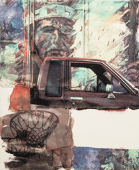 Robert Rauschenberg (1925-2008) American Indian, 2000 Archival pigment print on Concord rag paper 36 x 29-3/4 inches