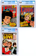 Silver Age (1956-1969):Romance, Young Love #51, 55 and 60 CGC-Graded Group (DC, 1965-67).... (Total: 3 Comic Books)