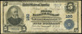 National Bank Notes:West Virginia, Parkersburg, WV - $5 1902 Plain Back Fr. 598 The First NB Ch. # 180 Very Good.. ...