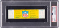 """Football Collectibles:Tickets, 1967 NFL Championship Game """"The Ice Bowl"""" Full Ticket PSA Authentic. ..."""
