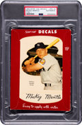 Baseball Cards:Singles (1950-1959), 1952 Star-Cal Decals Type 1 Mickey Mantle #70G PSA Authentic....