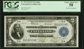 Large Size:Federal Reserve Bank Notes, Davis-Fancher Dual Courtesy Autographs Fr. 759 $2 1918 Federal Reserve Bank Note PCGS Choice About New 58.. ...