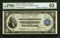 Large Size:Federal Reserve Bank Notes, Baxter and Fancher Courtesy Autographed Fr. 757 $2 1918 Federal Reserve Bank Note PMG Choice Uncirculated 63.. ...