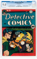 Golden Age (1938-1955):Superhero, Detective Comics #59 Central Valley Pedigree (DC, 1942) CGC VF/NM 9.0 White pages....