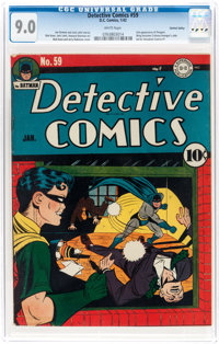 Detective Comics #59 Central Valley Pedigree (DC, 1942) CGC VF/NM 9.0 White pages