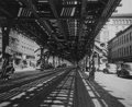 Photographs:Gelatin Silver, Arnold Eagle (Hungarian/American, 1909-1992). Under the Third Avenue El, North of 27th St., New York, 1939. Gelatin silv...
