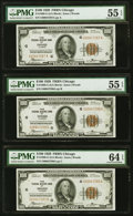 Fr. 1890-G $100 1929 Federal Reserve Bank Notes Three Consecutive Examples. ... (Total: 3)