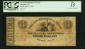 Obsoletes By State:Texas, Houston, TX- Government of Texas $3 Apr. 1, 1838 Cr. H15 Medlar 57 PCGS Fine 15.. ...