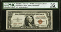 Fr. 2300* $1 1935A Hawaii Silver Certificate Star. PMG Choice Very Fine 35