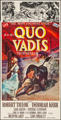 "Movie Posters:Drama, Quo Vadis (MGM, 1951). Folded, Fine/Very Fine. Three Sheet (41"" X 79""). Drama.. ..."