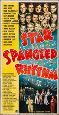 "Movie Posters:Comedy, Star Spangled Rhythm (Paramount, 1942). Folded, Fine+. Three Sheet (41"" X 80""). Comedy.. ..."