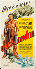 """Movie Posters:Action, Jack London (United Artists, 1943). Folded, Fine/Very Fine. Three Sheet (41"""" X 79""""). Action.. ..."""