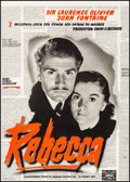 """Movie Posters:Hitchcock, Rebecca (FSK, R-1960). Fine/Very Fine on Linen. German A1 (23.5"""" X 33""""). Hitchcock.. ..."""