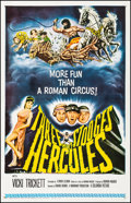 """Movie Posters:Comedy, The Three Stooges Meet Hercules (Columbia, 1962). Fine/Very Fine on Linen. One Sheet (27"""" X 41.5""""). Comedy.. ..."""