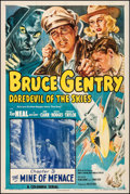 "Movie Posters:Serial, Bruce Gentry: Daredevil of the Skies (Columbia, 1948). Very Fine on Linen. One Sheet (27.25"" X 41"") Chapter 3 -- ""The Mine o..."
