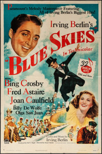 "Blue Skies (Paramount, 1946). Folded, Fine/Very Fine. One Sheet (27"" X 41""). Musical"