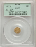 1873 50C Liberty Octagonal 50 Cents, BG-915, Low R.4, MS63 PCGS. PCGS Population: (35/62). NGC Census: (3/23)