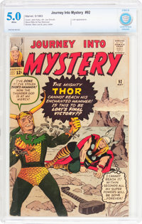 Journey Into Mystery #92 (Marvel, 1963) CBCS VG/FN 5.0 White pages