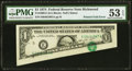 Error Notes:Foldovers, Fr. 1908-E $1 1974 Federal Reserve Note. PMG About Uncirculated 53 EPQ.. ...