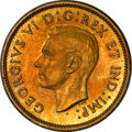 Canada: George VI brass Specimen Trial 5 Cents 1937 SP64 PCGS