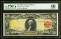 Fr. 1180 $20 1905 Gold Certificate PMG Extremely Fine 40