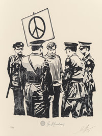Shepard Fairey (b. 1970) Peaceful Protestor, 2017 Letterpress on wove paper 17 x 13 inches (43.2