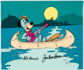 """Animation Art:Limited Edition Cel, """"Huck in a Canoe"""" Huckleberry Hound Signed Limited Edition Cel AP #11/20 (Hanna-Barbera, 1989)...."""