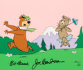 "Animation Art:Limited Edition Cel, ""Cindy Chasing Yogi"" Yogi Bear Signed Limited Edition Cel AP #11/20 (Hanna-Barbera, 1989)...."