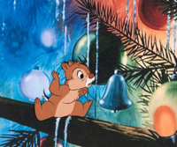 Pluto's Christmas Tree Chip and Dale Production Cel (Walt Disney, 1952)