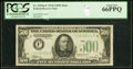 Fr. 2202-F $500 1934A Federal Reserve Note. PCGS Gem New 66PPQ