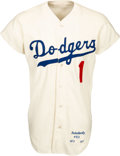 Baseball Collectibles:Uniforms, 1971 Billy Grabarkewitz Game Worn Los Angeles Dodgers Jersey. ...