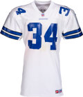 Football Collectibles:Uniforms, 1997 Herschel Walker Game Worn Dallas Cowboys Jersey - Season-Long Wear, Photo Matched to Last Ever Game!...