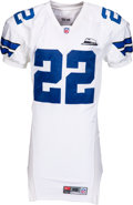 Football Collectibles:Uniforms, 2000 Emmitt Smith Game Worn Dallas Cowboys Jersey with Landry Memorial Patch - Used 11/23 vs. Vikings!...
