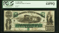 Confederate Notes:1861 Issues, T5 $100 1861 PF-1 Cr. 5 PCGS Very Choice New 64PPQ.. ...