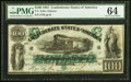 Confederate Notes:1861 Issues, T5 $100 1861 PF-1 Cr. 5 PMG Choice Uncirculated 64.. ...