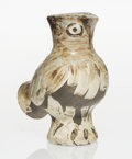 Prints & Multiples, Pablo Picasso (1881-1973). Chouette, 1969. Ceramic vase painted in brown, black, and white with engobes and partial glaz...