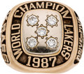 Basketball Collectibles:Others, 1987 Los Angeles Lakers NBA Championship Staff Ring. ...