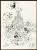 Animation Art:Production Drawing, Mickey Mouse and Friends Walt Disney World Illustration by Harry Holt (Disney/MGM Studios, c. 1991)....
