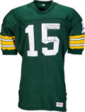 "Football Collectibles:Uniforms, Bart Starr Signed Green Bay Packers Jersey Personalized to ""The Lombardis""...."