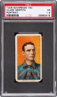 1909-11 T206 Sovereign 150 Clark Griffith (Portrait) PSA Fair 1.5 - Only Five Confirmed 150 Subjects