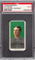 Baseball Cards:Singles (Pre-1930), 1909-11 T206 Sovereign 150 Cy Young (Portrait) PSA VG 3 - Pop Three, One Higher for Brand/Series. ...