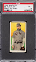 Baseball Cards:Singles (Pre-1930), 1909-11 T206 Sovereign 150 Ed Reulbach (Glove Showing) PSA VG+ 3.5 - Pop One, Two Higher for Brand. ...