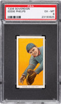 Baseball Cards:Singles (Pre-1930), 1909-11 T206 Sovereign 350 Eddie Phelps PSA EX-MT 6 - Pop Two, One Higher for Brand. ...