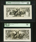 Miscellaneous:Other, Fr. 268 $5 Silver Certificate Face Proofs Four Examples. . ... (Total: 4 notes)