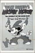 "Movie Posters:Animation, Two Gun Mickey (Buena Vista, R-1974). Folded, Very Fine-. One Sheet (27"" X 41""). Animation.. ..."