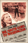 "Movie Posters:Drama, Mr. Smith Goes to Washington (Columbia, R-1949). Folded, Very Fine-. One Sheet (27"" X 41""). Drama.. ..."
