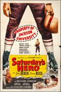 "Movie Posters:Drama, Saturday's Hero (Columbia, 1951). Folded, Fine/Very Fine. One Sheet (27"" X 41""). Drama.. ..."